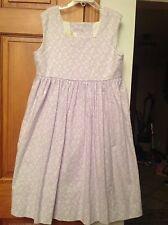 STRASBURG size 10 purple Flower sleeveless classic Dress