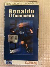 RONALDO INTER F.C. INTERNAZIONALE CALCIO VHS VIDEOCASSETTA IL FENOMENO