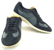 ECCO Indianapolis Navy Suede Shoes Fashion Sneakers Mens US Size 13-13.5 EUR 47