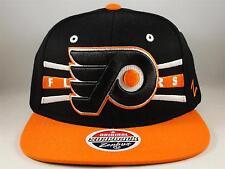 3d93d84f72f NHL Philadelphia Flyers Snapback Hat Cap Zephyr Front Runner Black Orange
