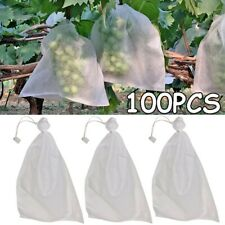 100x Grape  Protection Bags Fruit Vegetable Mesh Bag Against Insect  Waterproof~