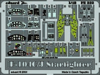 Eduard Accessories Fe222 - 1:48 F-104C/J Starfighter - Ätzsatz - Neu