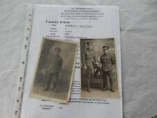 PVT PAISLEY  AUSTRALIAN ENGINEERS  KILLED WW1 SYDNEY  by Lightning  two portrait