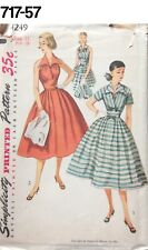 VTG Sewing Pattern Simplicity #4249 Size 11 Bust 29 Sun Dress Unused 1953