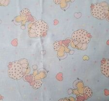 Precious Moments BTY Spectrix Baby Girl on Blue 100% Cotton Fabric