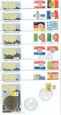 Vatican City Sc# 1269-83, The Euro Unites Europe, 8 First Day Covers