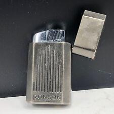 Ronson lighter vintage tobacciana vtg jet lite torch gas flame silver stripe usa
