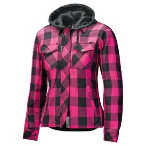 Held Damen Motorrad Flanell Hemd Lumberjack 2 mit Protektoren Pink Größe D-XS