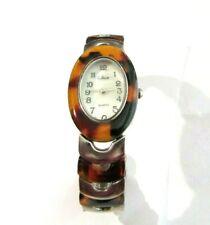 Vintage Collezio Quarts Ladies Bracelet Band Wrist Watch Faux Tortoise Shell