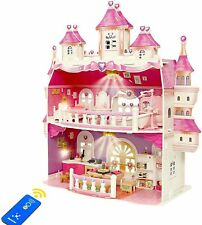 Puppenhaus Groß 2 Spielebenen Puppen Schloss VIlla Möbel Zubehör Mädchen B-WARE