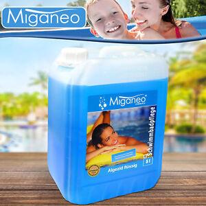 Miganeo 5l Algenvernichter Algezid Algizid Algen für Pool Pflege Poolreinigung