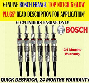 BOSCH GENUINE FOR BMW 5 SERIES 525 530 535 2.5 3.0 E60 E61 GLOW PLUG PLUGS X6