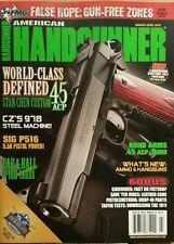 American Handgunner .45 ACP  CZ's 978  SIG P516 March April 2015 FREE SHIPPING