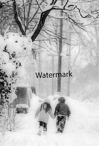 Art photography - hand in hand in snow