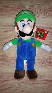 """Super Mario Luigi 12"""" Plush Brand New Official Licensed"""