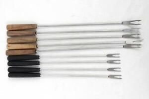 Lot of 9 Vintage Fondue Forks Stainless Steel