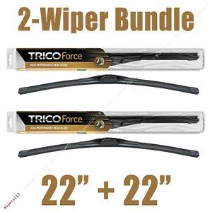 "2-Wipers: 22"" + 22"" Trico Force All-Season Beam Wiper Blades-- 25-220 x2"