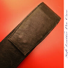 1990s SOFT LEATHER 2 PEN CASE LARGE VINTAGE CLASSIC WRITING MINT RARE COVER