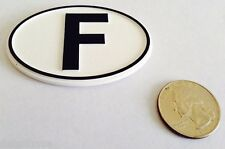SMALL OVAL F FRANCE BADGE EMBLEM - FRENCH COUNTRY BADGE - FREE SHIP