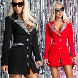 MEXTON By Alina Damenkleid Blazer Partykleid Abendkleid Clubkleid 38 M Rot #D211