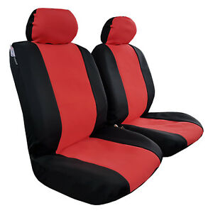 Red Black Wetsuit Waterproof Neoprene Airbag Car Seat Covers Double Stitching