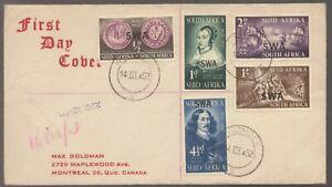 1952 South West Africa Overprinted Van Riebeeck Tercentenary Registered FDC