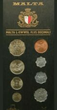 More details for malta coin set 1972 8 coins in perspex case.
