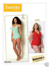 B6360 Womens Swimsuits  Sizes 18W-24W Lisette Butterick Sewing Pattern