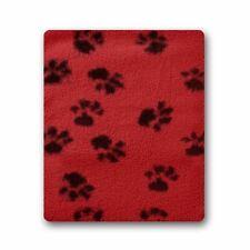 Micro Hotties Wool Red Paw Print Hot Water Bottle Heat Pad Warmer Microwaveable