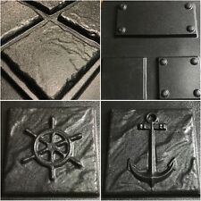 13pcs Nautical Theme Tile Molds- anchor, wheel, cladding and tumbled stones.