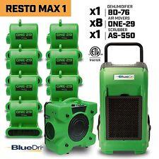 BlueDri™ Resto Max 1 | x1 Dehumidifier x8 Air Movers x1 Air Scrubber Green