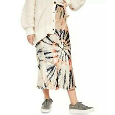 FREE PEOPLE Bali Serious Swagger Tie Dye Maxi Skirt Womens Small
