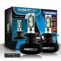 NIGHTEYE H4 9003 HB2 LED Headlight Bulb Light Hi/Lo Beam Kit 6500K HID White Hot