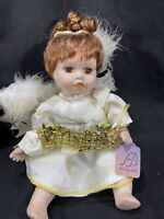 Ashley Belle Collector's Vintage Porcelain Angel Fairy Doll 10""