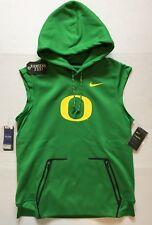 Nike Therma Oregon Ducks Apple Green Vest Hoodie Mens Size L