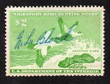 SCOTT RW24 $2 1957 Migratory Duck Hunting Stamp 1957 SIGNED LH
