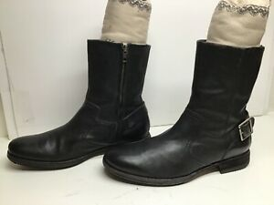VTG MENS COLE HAAN MOTORCYCLE BLACK BOOTS SIZE 10.5 M
