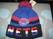 MITCHELL AND NESS NY NEW YORK NETS ABA CUFFED KNIT POM BEANIE NWT  DR J
