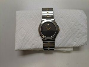 Mens Movado 34mm Museum Stainless Steel Watch Model 86.65.877.02