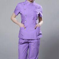 Women Medical Hospital Clinic Scrubs Set Uniform Nurses Doctor Work Clothes