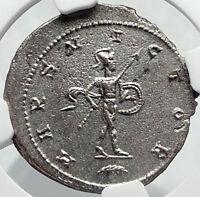 GALLIENUS Authentic Ancient 265AD Antioch Genuine Roman Coin MARS NGC i82334
