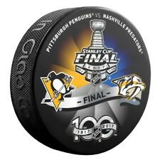 2017 NASHVILLE PREDATORS vs PITTSBURGH PENGUINS Stanley Cup Playoff Hockey Puck