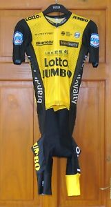 """BNWT RIDER-ISSUE LOTTO JUMBO PRO TEAM SKINSUIT. XS UP TO 35/36"""" CHEST"""