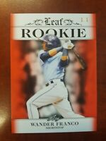 2018 Leaf ROOKIE Wander Franco card RA-28 SSP SN#1/1 RC Rays