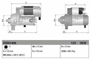 DENSO STARTER MOTOR FOR A HONDA ACCORD SALOON 2.4 140KW