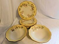 E Better Homes & Gardens Tuscan Retreat Pattern Salad Plates 4 + Soup Bowls 2