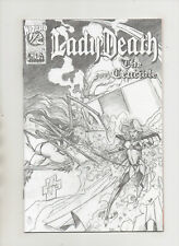 Lady Death The Crucible #1/2 - Wizard Cloth Edition - (Grade 9.2) 1996
