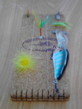 New listing 3x8 Cheater Leader Cork Pad to hold fishing leader line,hooks,jigs,lures,fli es