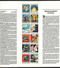 OPC 1988 France Special Comic Booklet of 12 Sc#2088-2099a