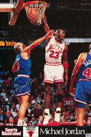 POSTER:NBA BASKETBALL:  MICHAEL JORDAN - WHITE UNI- CHICAGO BULLS   #7461 RC19 D